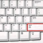 Shift + Del — сочетание клавиш для удаления